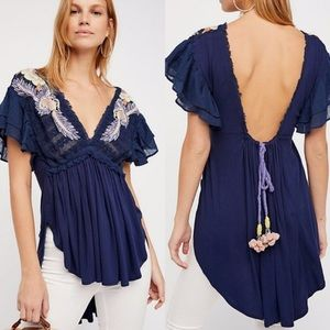Free People fiesta navy tunic